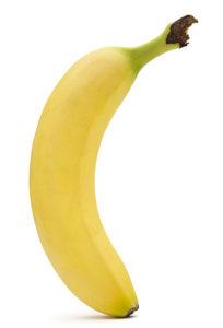 banane fond blanc